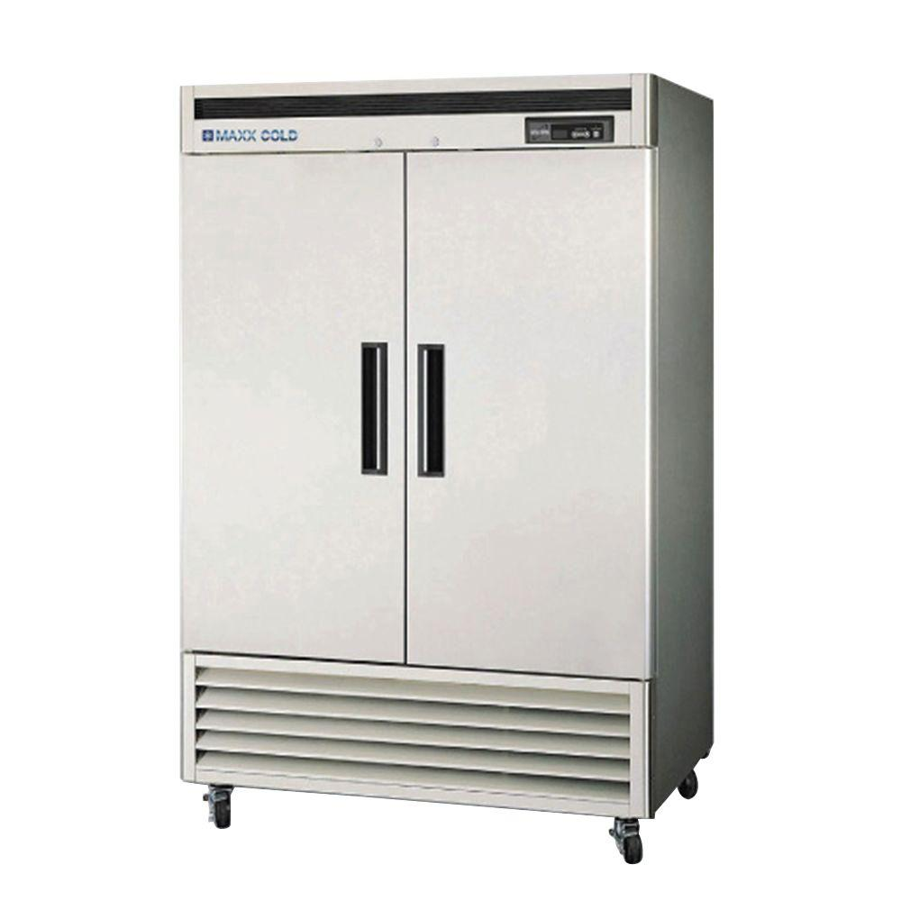 49 cu. ft. Double Door Commercial Reach in Refrigerator with Stainless
