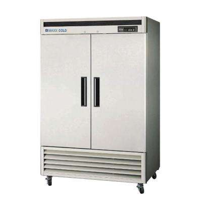 49 cu. ft. Double Door Commercial Reach in Refrigerator with Stainless Interior and Exterior