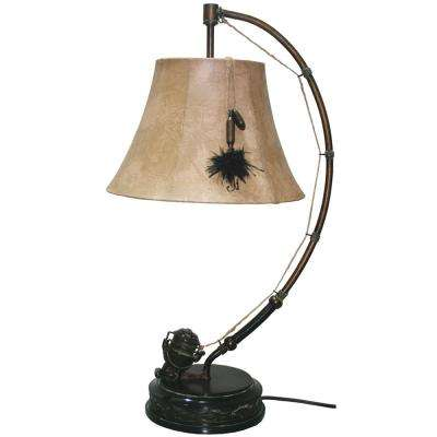 Spinning Reel Table Lamp With Shade