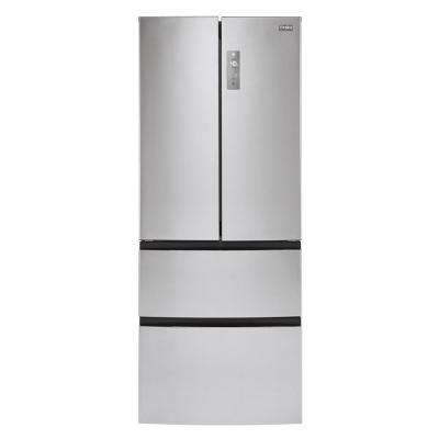 28 in. W 15 cu. ft. French Door Refrigerator in Stainless Steel
