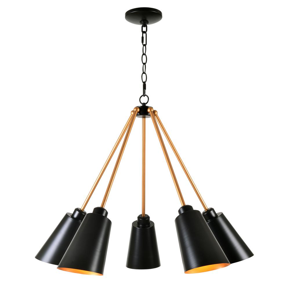 black chandelier lighting cottage style kenroy home alvar 5light black chandelier with shade shade93675bl