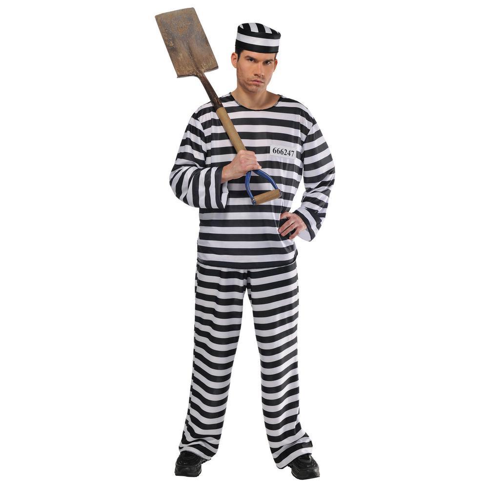 amscan mens jail bird halloween costume standard-840227 - the home depot