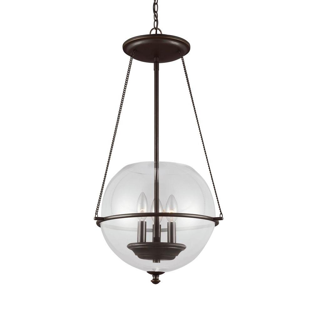 Sea Gull Lighting Havenwood 3-Light Autumn Bronze Indoor