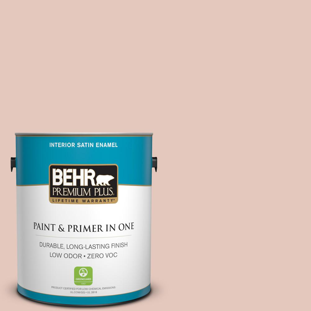 1-gal. #210E-3 Almond Willow Zero VOC Satin Enamel Interior Paint