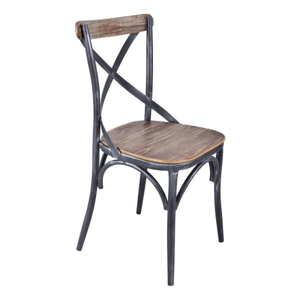 Armen Living Sloan Industrial Grey Dining Chair (Set Of 2)