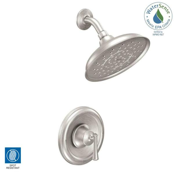 MOEN Ashville Single Handle 1 Spray Shower Faucet with Valve in
