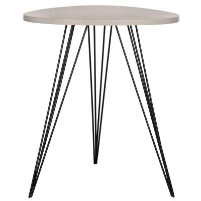 Wolcott Grey and Black Side Table