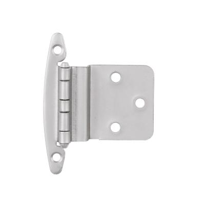 Satin Nickel 3/8 in. Inset Cabinet Hinge without Spring (1-Pair)