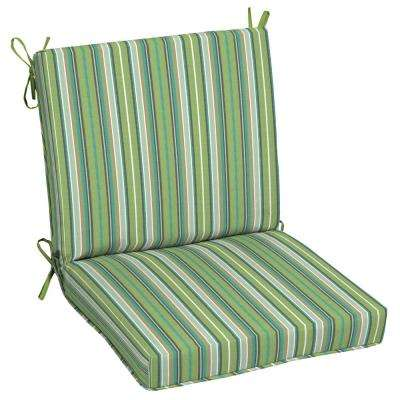 Sunbrella Foster Surfside Outdoor Dining Chair Cushion