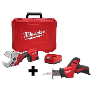 M12 12-Volt Lithium-Ion Cordless PVC Shear Kit W/ M12 HACKZALL Reciprocating Saw