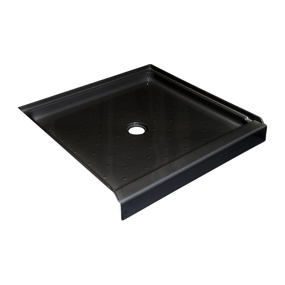 Lyons Industries Elite 36 in. x 36 in. Single Threshold Shower Base in Black