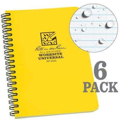 4-5/8 in. x 7 in. Side Spiral Contractors Notebook, Yellow (6-Pack)