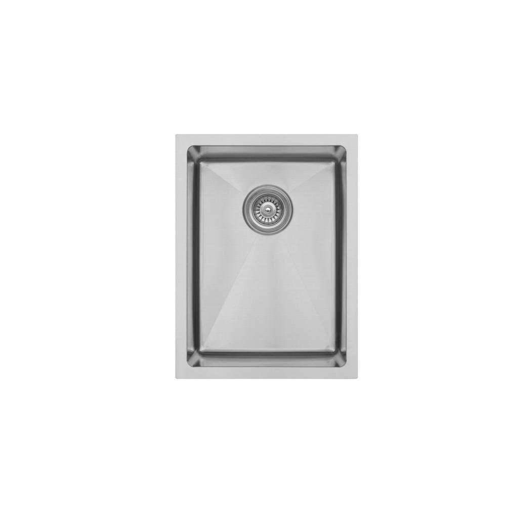 Elite Undermount/Bar Stainless Steel 15 in. 16-Gauge Single Bowl Kitchen Sink