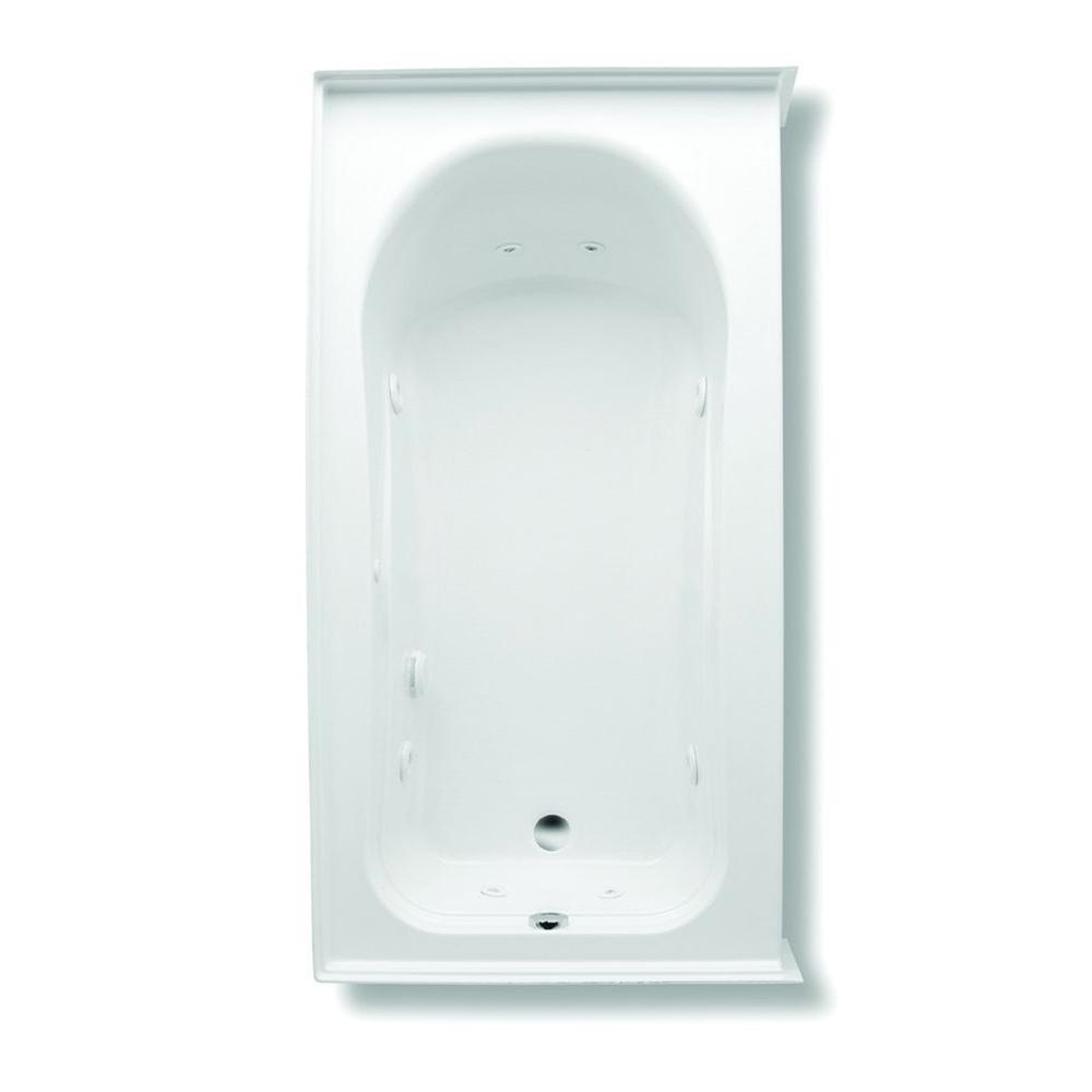 Vincenzo Q 5.5 ft. Right Drain Acrylic Whirlpool Bath Tub with