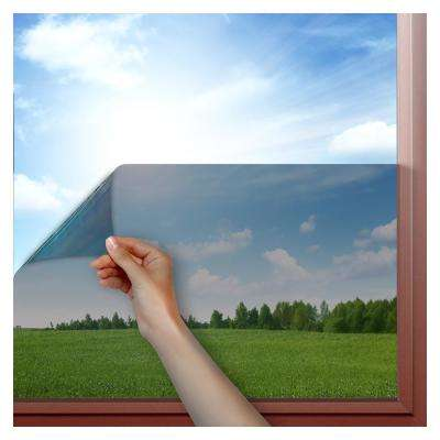 48 in. x 50 ft. EZGL Black Easy Cling Glare Control Window Film