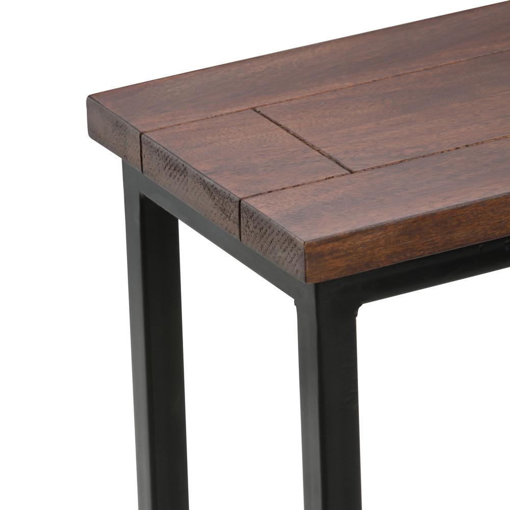 Simpli Home Skyler Solid Mango Wood And Metal 10 In Wide