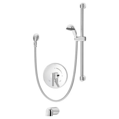 Dia Single-Handle 1-Spray Tub and Shower Faucet in Chrome (Valve Not Included)