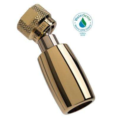 Classic Plus 1-Spray 1 in. 1.5 GPM Low Flow Fixed Shower Head with All Metal Construction in Polished Brass
