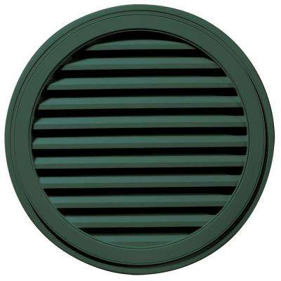36 in. Round Gable Vent in Forest Green