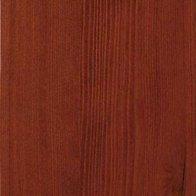 4 in. x 3 in. Wood Garage Door Sample in Hemlock with Mahogany 045 Stain