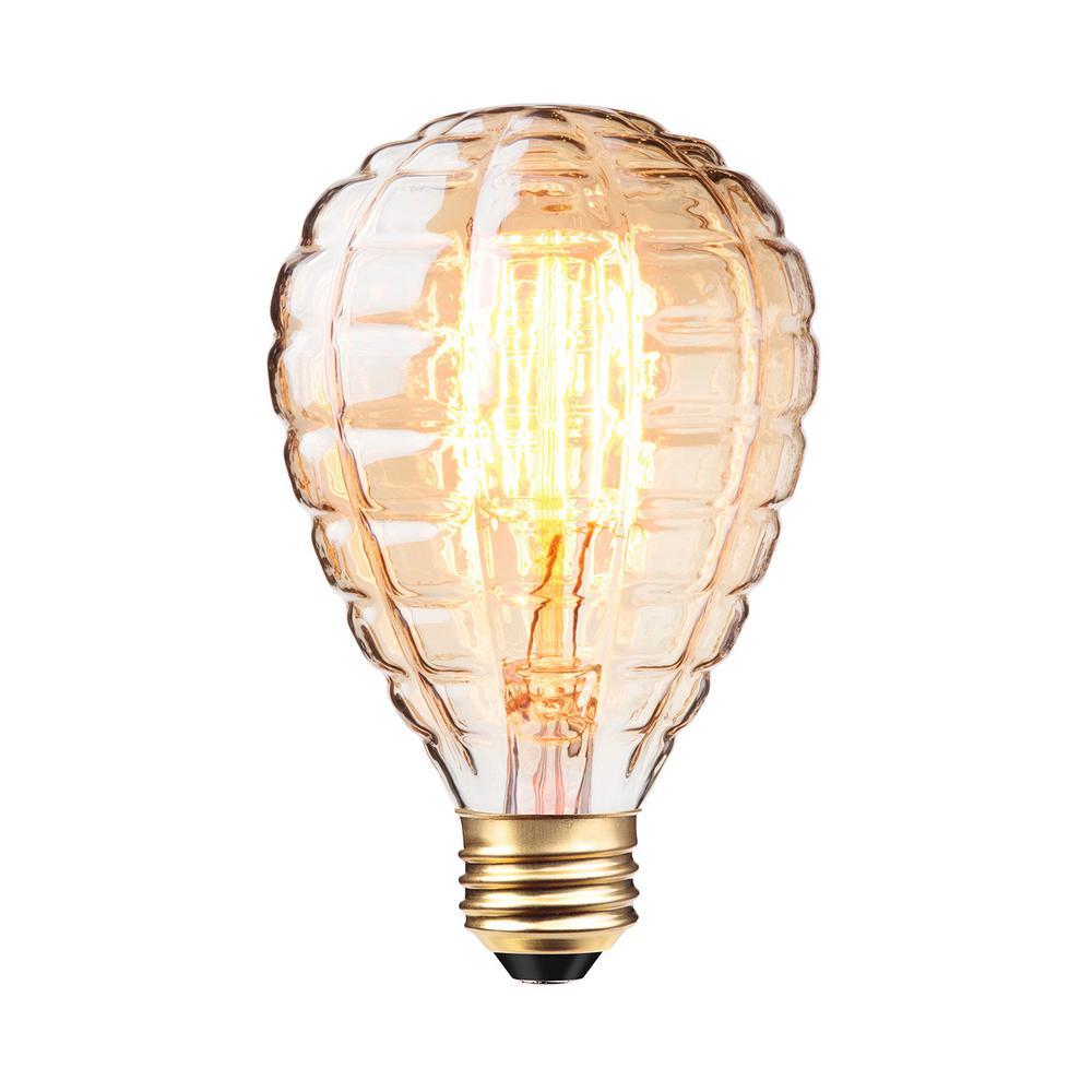 40W Amber Designer Vintage Edison Granada Incandescent Light Bulb