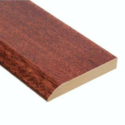 High Gloss Santos Mahogany 1/2 in. Thick x 3 1/2 in. Width x 94 in. Length Hardwood Wall Base Molding
