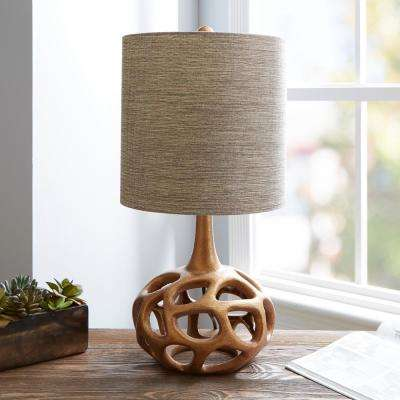 Clove 23 in. Gold Table Lamp with Linen Shade