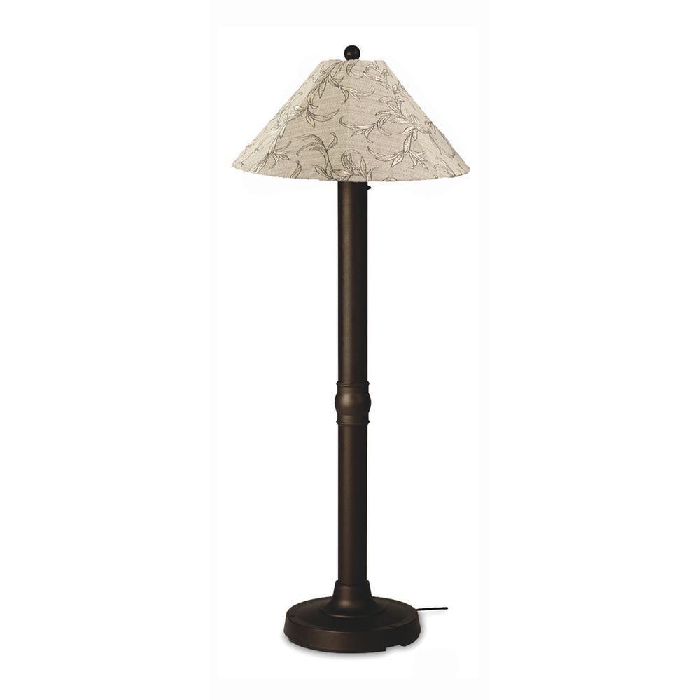 Seaside 60 in. Bronze Outdoor Floor Lamp with Bessemer Shade