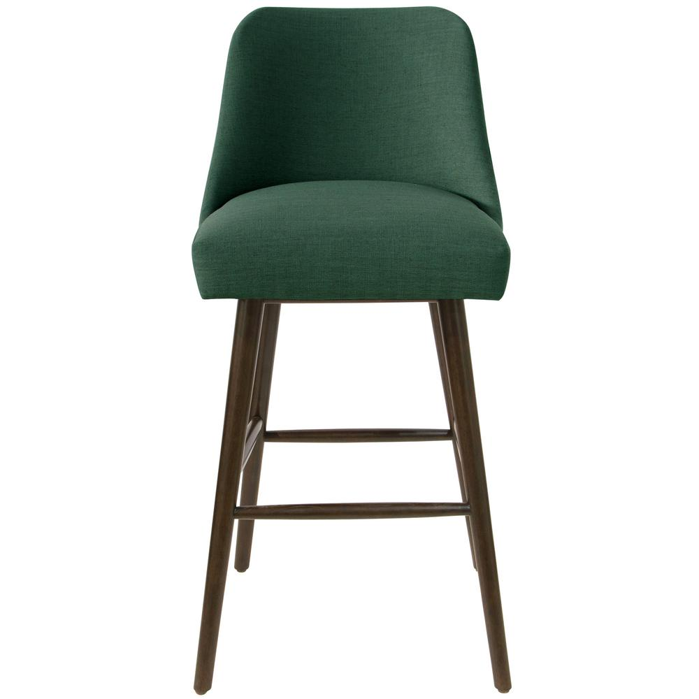 Pleasant Skyline Furniture Linen Conifer Green Rounded Back Bar Stool Unemploymentrelief Wooden Chair Designs For Living Room Unemploymentrelieforg