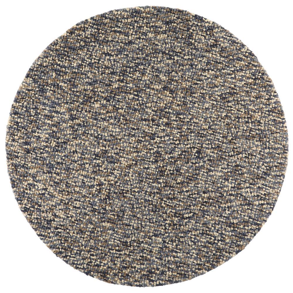 home decorators collection jolly shag denim 7 ft x 7 ft round area rug 1233750360 the home depot. Black Bedroom Furniture Sets. Home Design Ideas