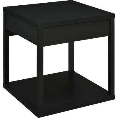 Nelsons Black End Table with Drawer