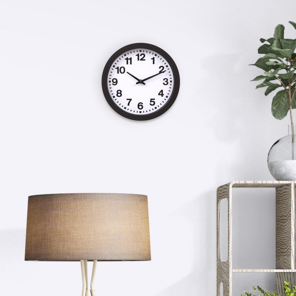 Black Bold Numbers Wall Clock