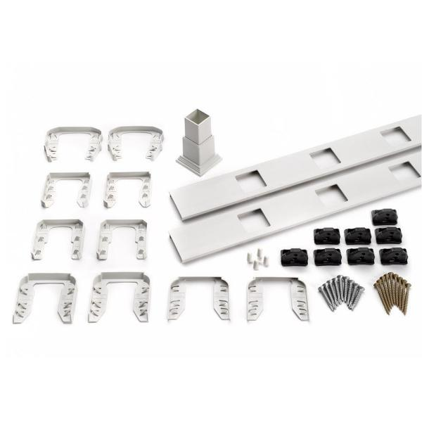 Transcend 67.5 in. Composite White Square Baluster Stair Accessory Kit
