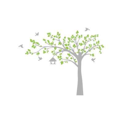 100 in. x 79 in. Multi Big Tree with Love Birds Tree Removable Wall Decal