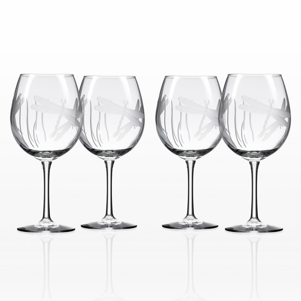 Dragonfly 18 oz. Balloon Wine Glass (Set of 4)