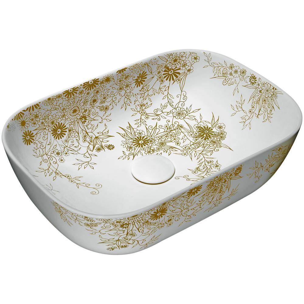 Ceramic Vessel Sink in White
