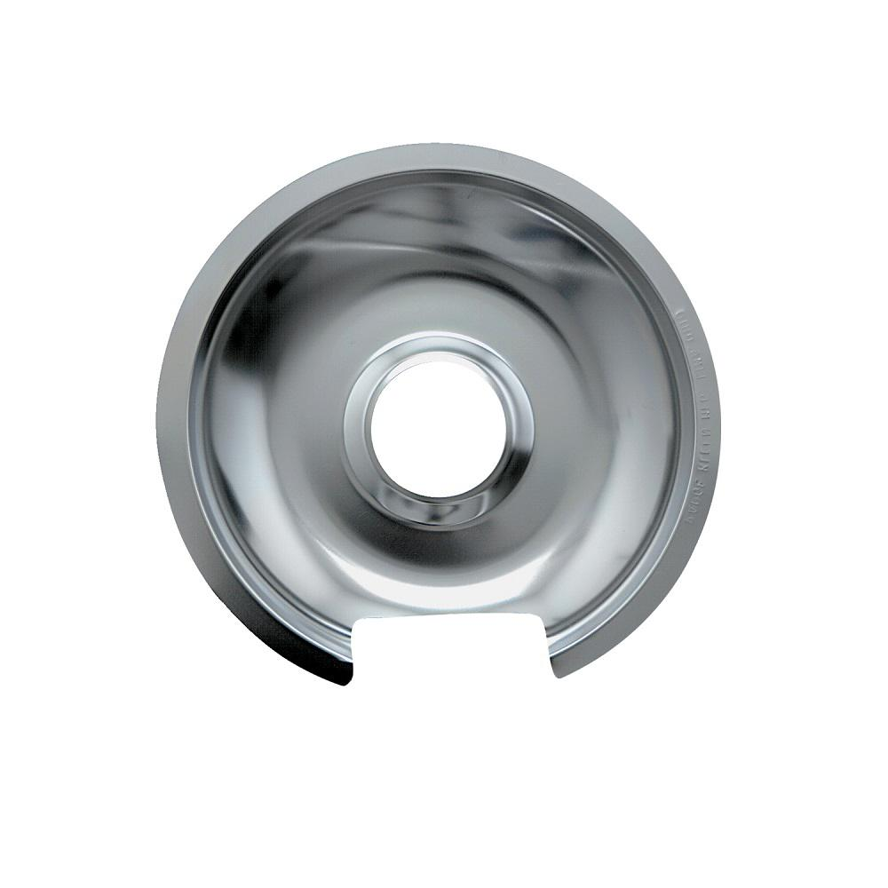 Range Kleen 8 in. Large Drip Pan in Chrome (1-Pack)