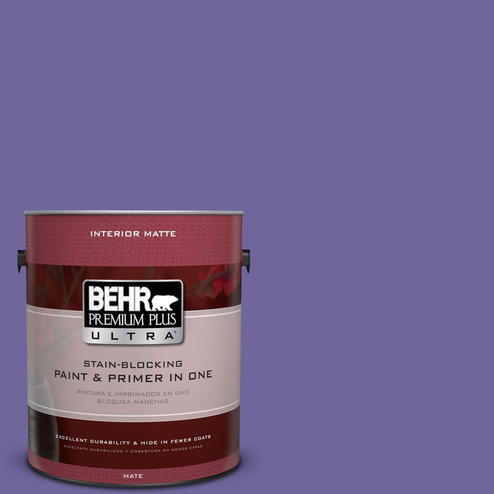 BEHR Premium Plus Ultra 1 gal. #630B-7 Pandora Flat/Matte Interior Paint