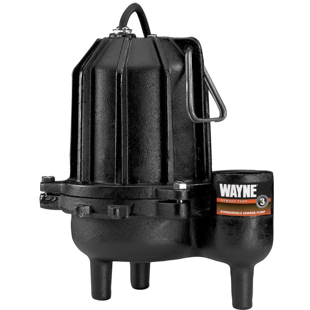 Wayne 3/4 HP Cast Iron Sewage Pump-DISCONTINUED