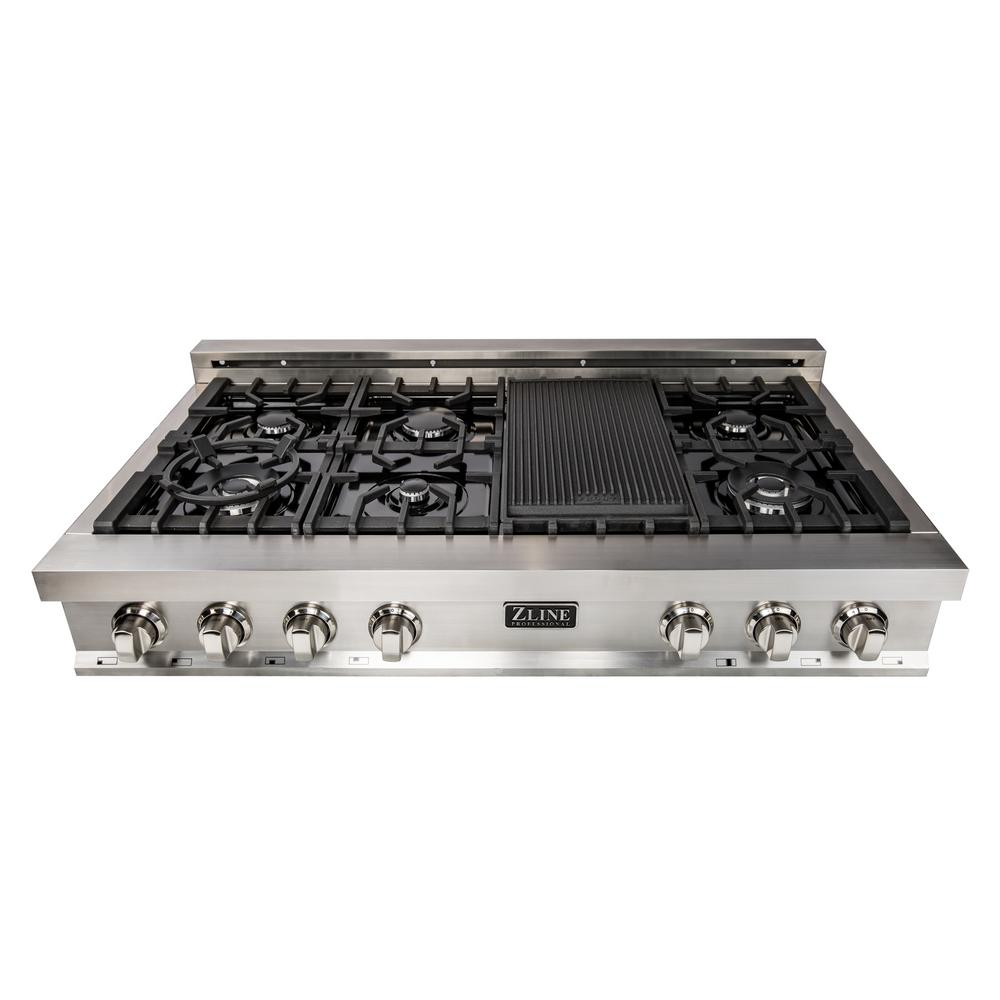 Stainless Steel Ceramic Range Top With 7 Gas Burners