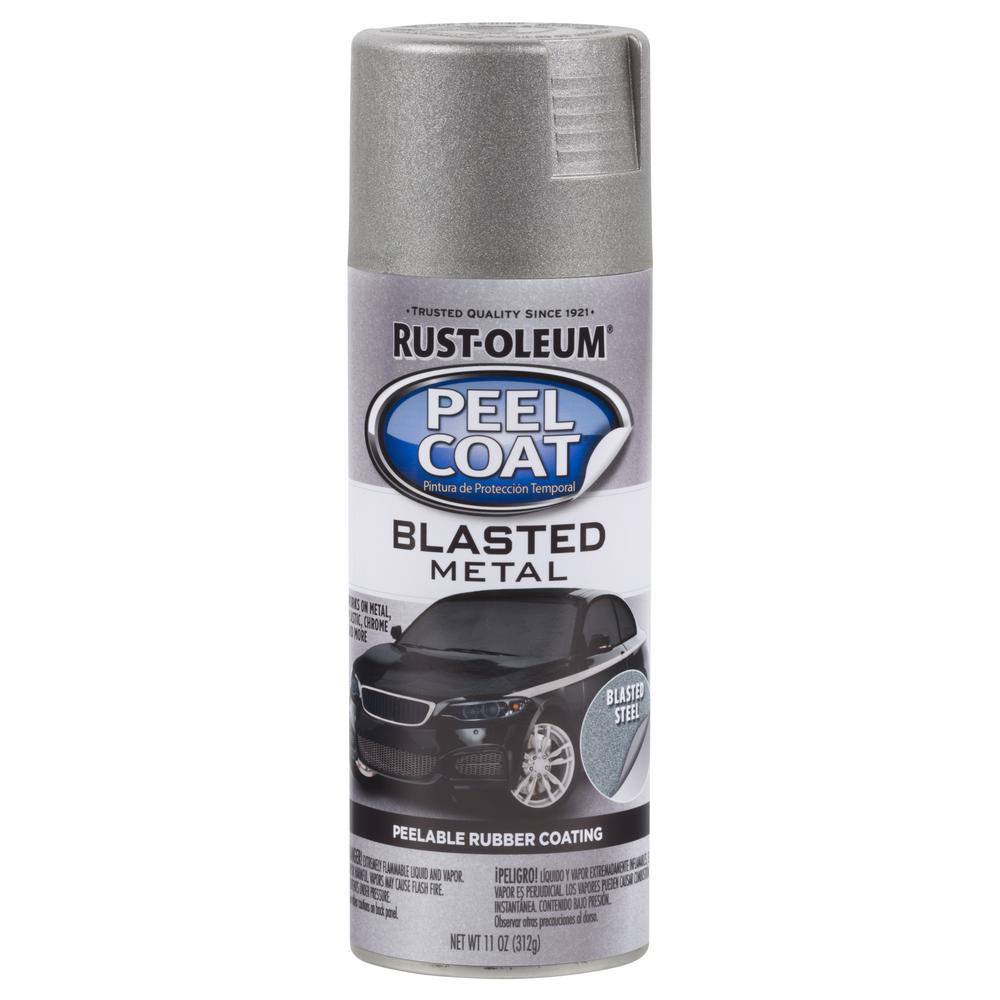 11 oz. Peel Coat Blasted Metal Steel Spray Paint (Case of