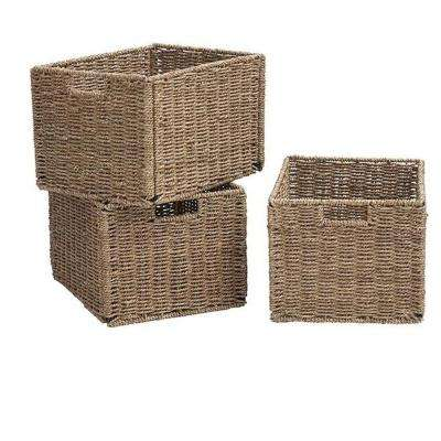 9.5 In. H X 11.75 In. W Natural Shutter Baskets (Set Of 3