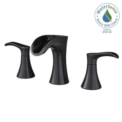 Pfister Brea 8 in. Widespread Waterfall Faucet Tuscan Bronze LF-049-BRYY - New