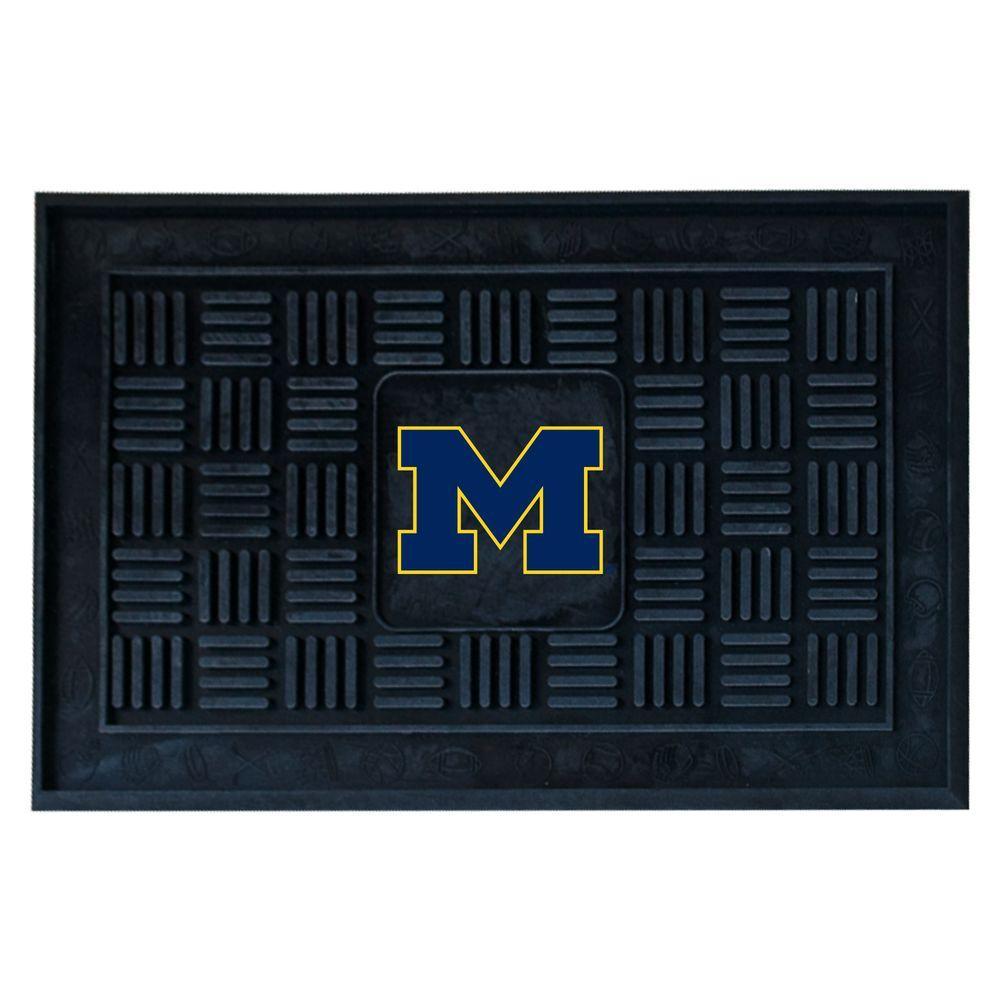FANMATS University of Michigan 18 inch x 30 inch Door Mat by FANMATS