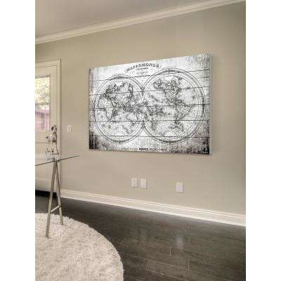 "30 in. H x 45 in. W ""Domination"" by Parvez Taj Printed White Wood Wall Art"