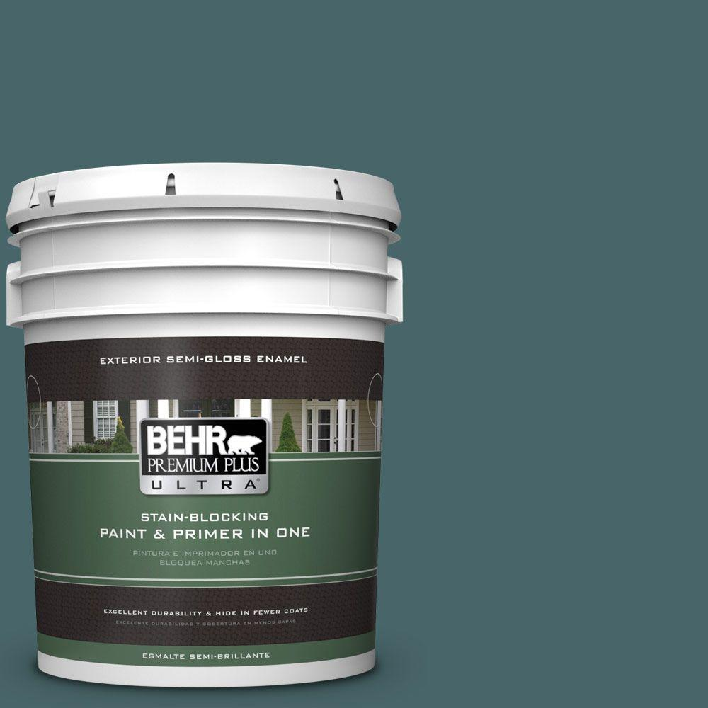 BEHR Premium Plus Ultra 5-gal. #500F-7 Mythic Forest Semi-Gloss Enamel Exterior Paint