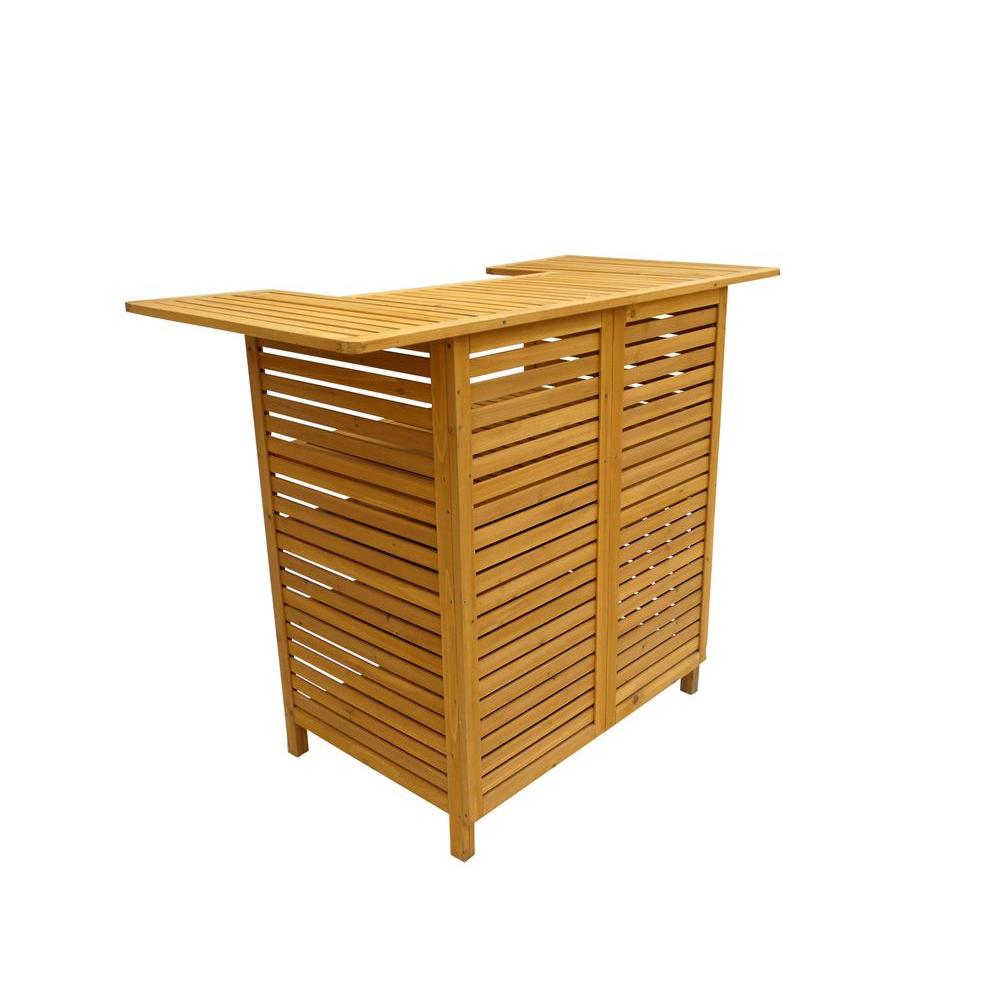 leisure season 54 in patio bar table with storage ob4727