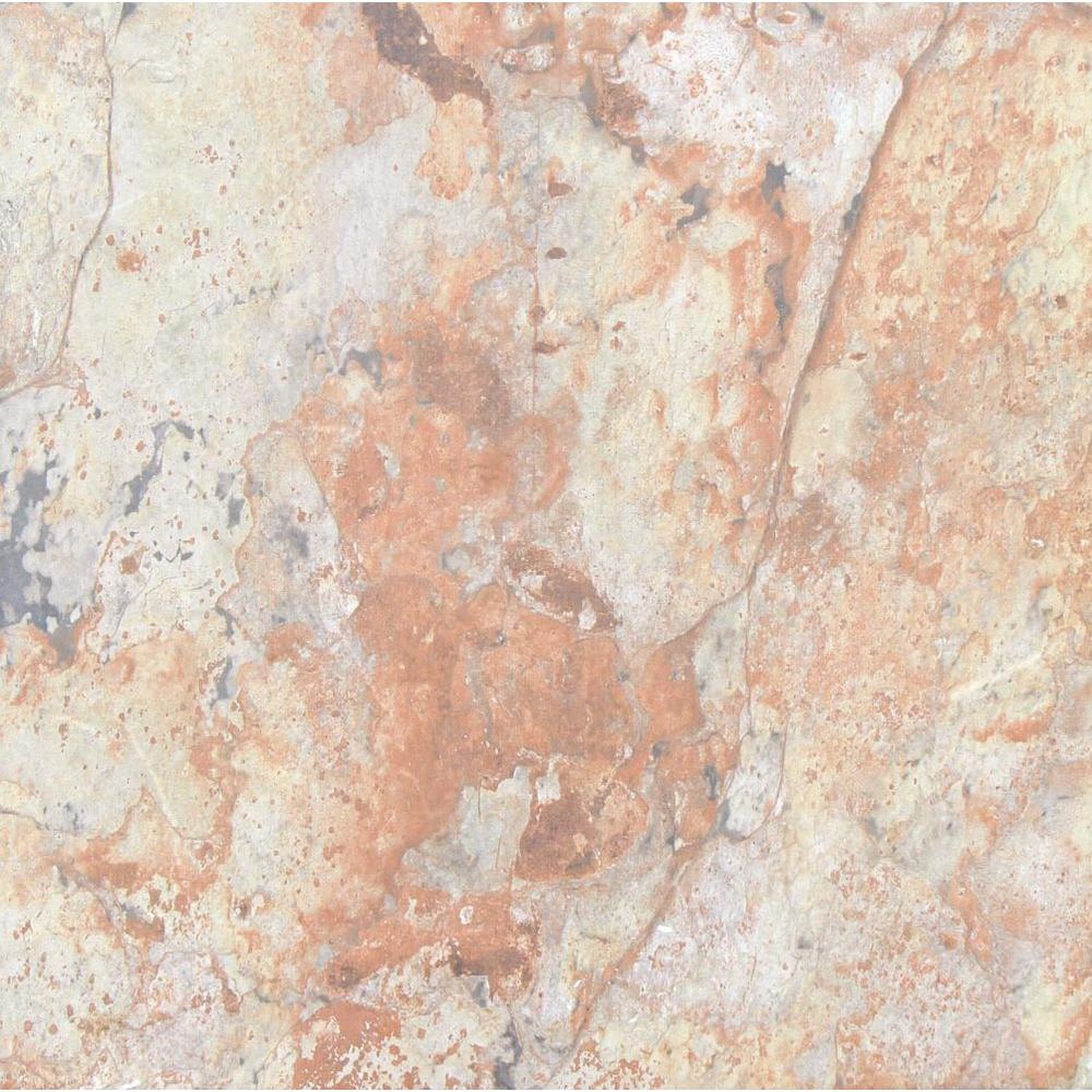 Autumn Stone 18 in. x 18 in. Glazed Ceramic Floor and