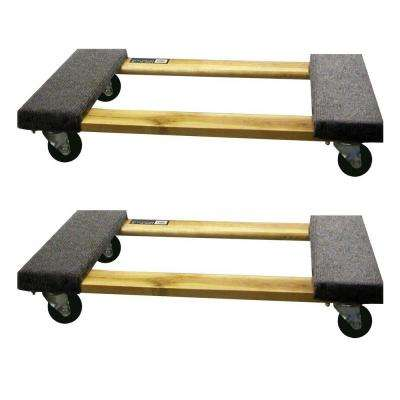 30 in. x 18.3 in. 1,000 lb. Capacity Furniture Dolly (2-Pack)