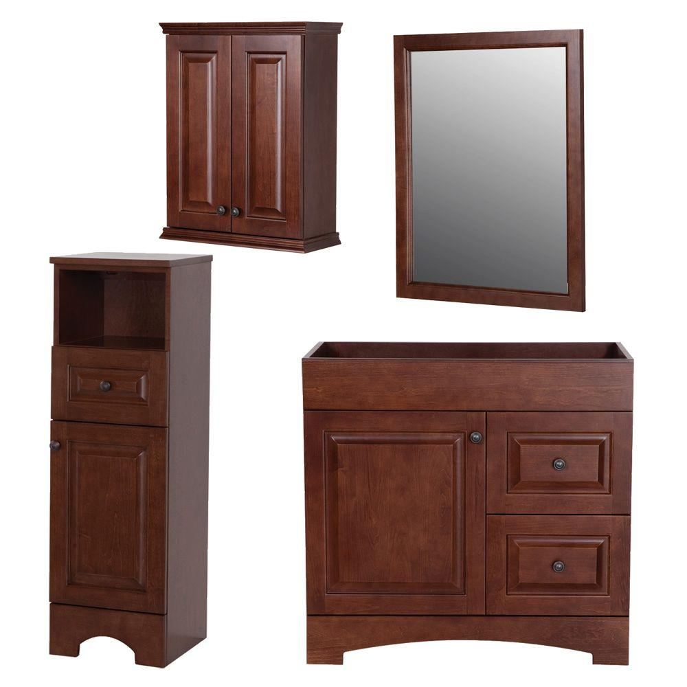 St. Paul Summit Bath Suite with 30 in. Vanity with Vanity Top in Linen Tower OJ and Wall Mirror